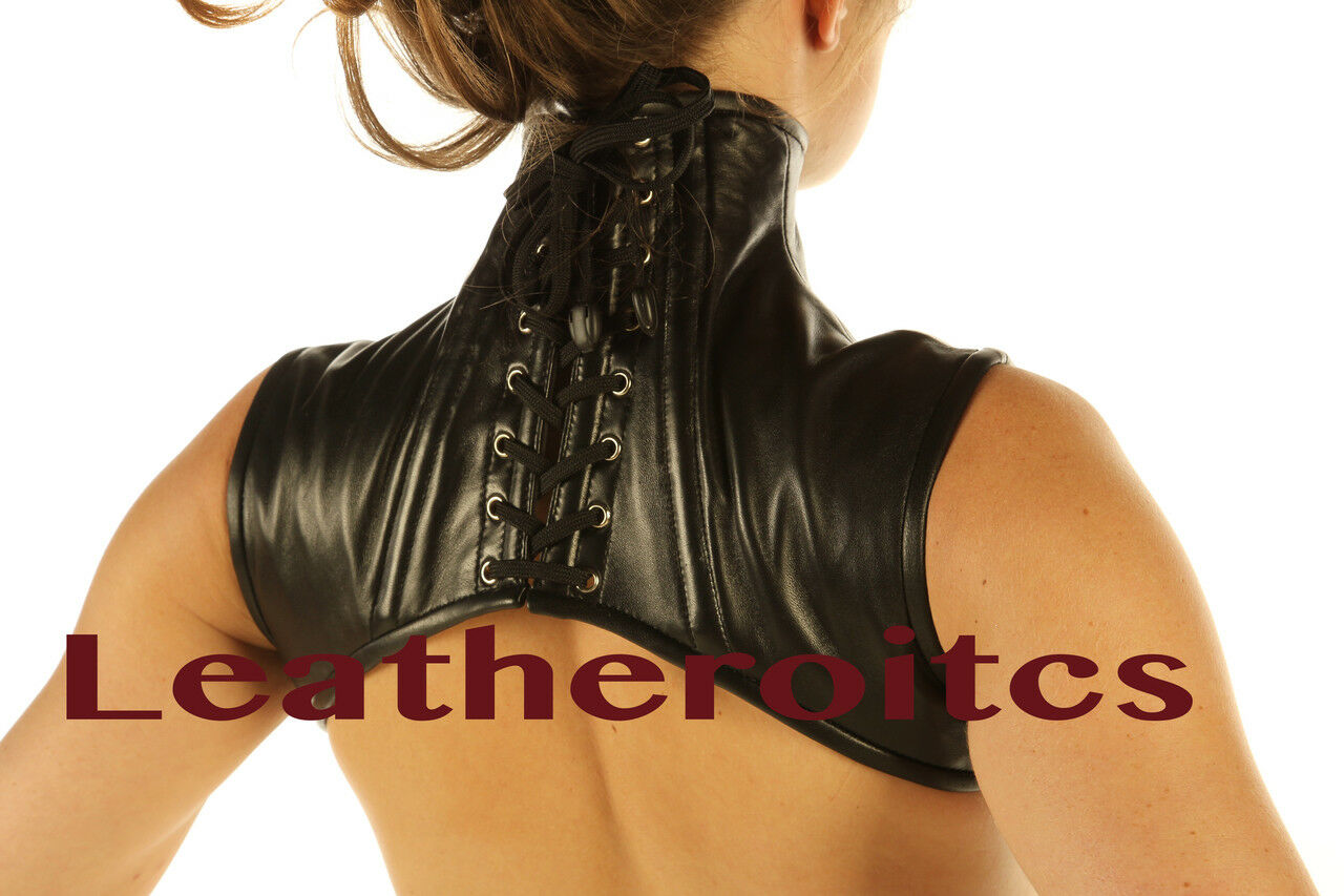 Echtes Leder Extreme hombro corsé cuello corsé corsé corsé Harness viga reticulada 70eb7a