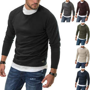 Jack-amp-Jones-Herren-Strickpullover-O-Neck-Basic-Shirt-Pullover-Langarmshirt