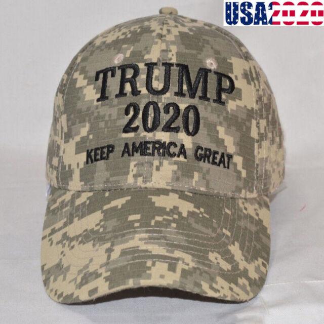 MAGA 2020 Trump Grey Gray Camouflage USA Bill 100/% Acrylic Embroidered Hat Cap