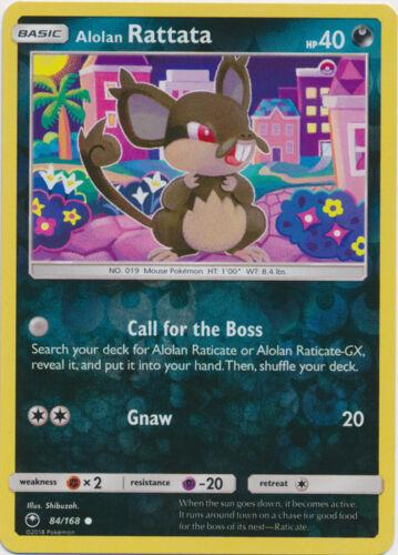 Common x4 Alolan Rattata 84//168 Reverse Holo Pokemon SM7 Celestial Storm M