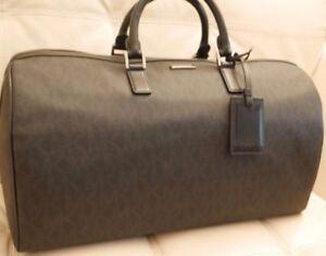 Details About New W Tags Michael Kors Black Large Duffel Travel Jet Set Mens Bag 598