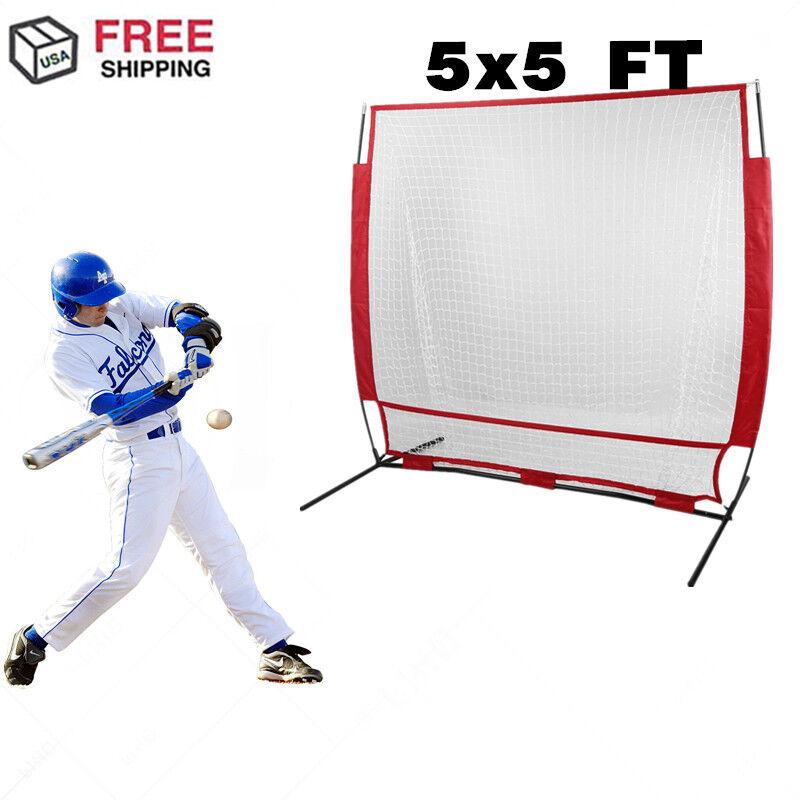 5'x5' Outdoor Hitting Baseball Fitness Net Mesh Training Softball Batting Tool