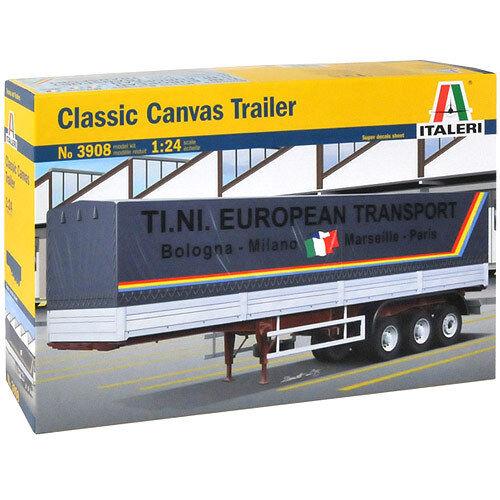 ITALERI Canvas Trailer 3908 1 24 Model Kit