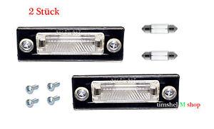2-Stueck-Kennzeichenbeleuchtung-VW-T5-Passat-3C-B6-Caddy-Touran-Golf-Plus-Skoda