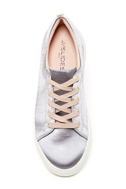 NIB J/Slides Amberr Satin Platform Sneaker Schuhe Leder Lining Damens Lace Up Schuhe Sneaker 7.5 162c7a