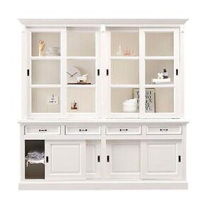 landhaus buffet sedan msh29ar kiefer mdf weiss 220x220 vitrine b cherschrank ebay. Black Bedroom Furniture Sets. Home Design Ideas