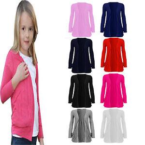 New-Kids-Girls-Long-Sleeve-Open-New-children-Boyfriend-Fashion-Top-Cardigan-5-13