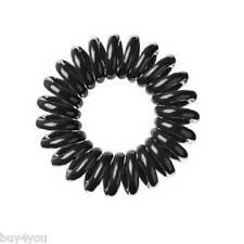 10x Treccia Elastico capelli Cavo del telefono Spirale per Accessorio nero