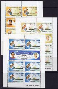 KIRIBATI-SG149b-53a-1981-ROYAL-WEDDING-SHEETLETS-FINE-USED