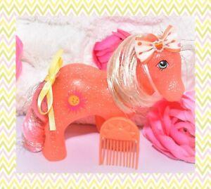 My-Little-Pony-MLP-G1-VTG-Sunspot-SPARKLE-Glitter-Sun-Spot-Tinsel-PICK-Comb