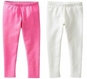 Carter/'s  Infant Girls/' TWO Pair Leggings Dinosaurs on Blue and Solid Pink NWT