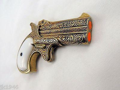 Old West Replica 1866 Brass Finish Double Barrel Derringer Non-Firing Gun  8435089752625   eBay