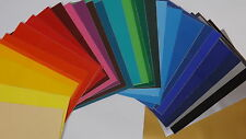 20 x A4 Sheets Of Self Adhesive Vinyl Any Colour Sign Making Vinyl Craft Robo*