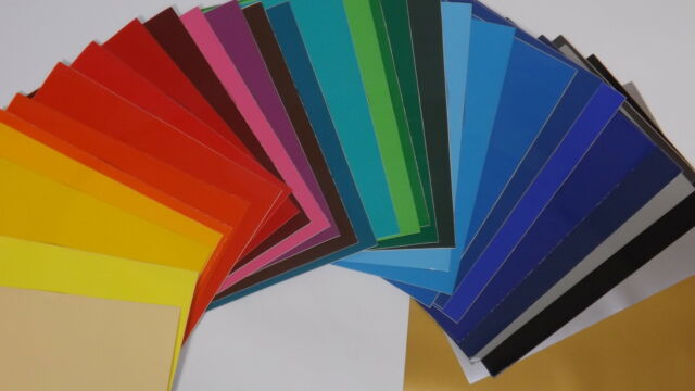 20 x A4 Sheets Of Self Adhesive Vinyl Any Colour Sign Making Vinyl Craft Robo