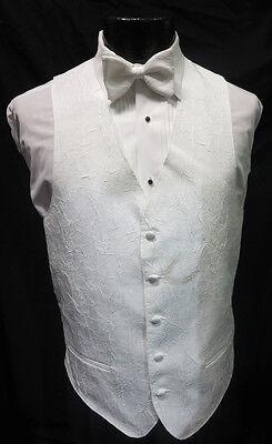 Black Mens Matisse Fullback Formal Tuxedo Vest /& Tie Wedding w// Pocket Square