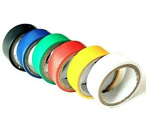6-x-PVC-Insulation-Tape-Coloured-Electrical-Wiring-Flame-Retardant-19mm-x-3M-Set