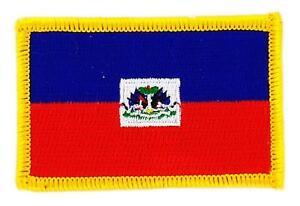 Patch écusson brodé Drapeau  HAITI  HAITIEN  Thermocollant