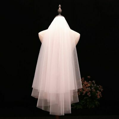 100/% In Stock 2 Tiers Bridal Veils Short Cute First Communion Veil For Girls With Comb