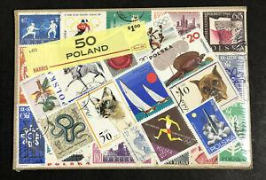 "Vintage Harris Stamp Packet ""50 Poland"" Used Stamps C-603"
