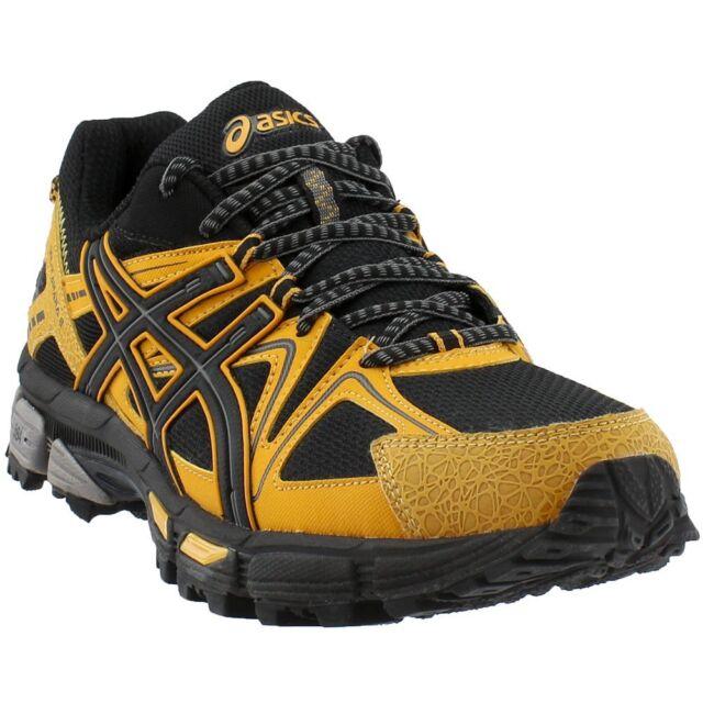 ASICS Gel-Kahana 8 Trail Running Shoes- Black;Yellow- Mens