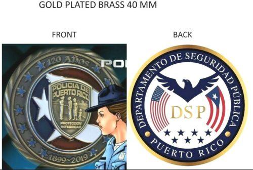 DEPT SEGURIDAD PUBLICA 120 ANIVERSARIO POLICIA PUERTO RICO Challenge Coin Police