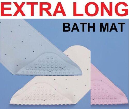 LONG RUBBER GRIP SUCTION NON-SLIP BATH SHOWER MAT 34.5cm x 78cm approx
