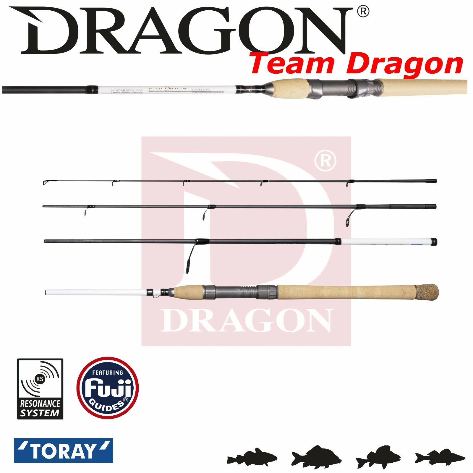 Travel Lure Fishing Rod Team Dragon Voyager Trout 8' 2,45m 4-21g Fast Action