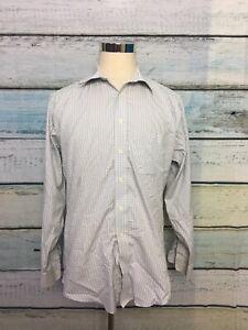 Joseph-amp-Feiss-Men-039-s-SZ-16-5-34-35-Plaid-Shirt-Long-Sleeve-Button-Down