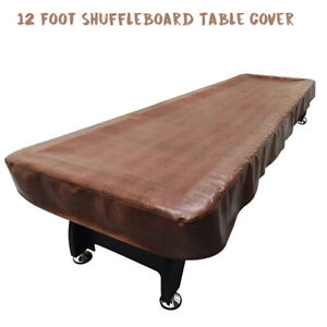 12Ft-Heavy-Duty-Leatherette-Shuffleboard-Table-Cover-Dust-Dust-proof-Protector