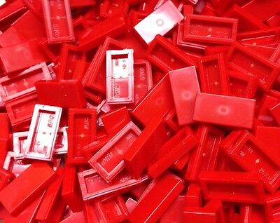 100 New Lego 1x2 Red  Finishing Tiles Smooth Floor Part 3069A