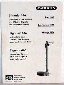 Capable Märklin Informationsheftchen Signaux 446 (1955)-ftchen Signale 446 (1955) Fr-fr Afficher Le Titre D'origine