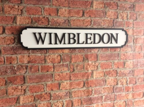 Vintage Wood Street Road Sign WIMBLEDON
