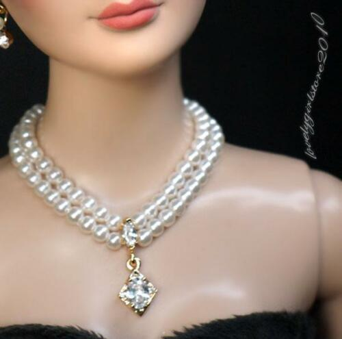 """Fashion zircon Necklace and Earring Jewelry Set for 22/"""" Tonner Tyler doll 037C"""