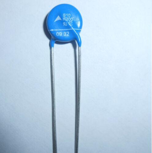 1x Varistor EPCOS S10K300 385VDC 300VAC 2500A RM7,5mm Metal Oxid