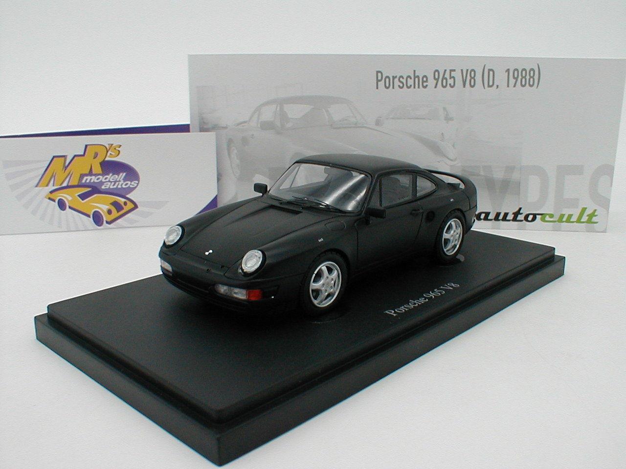 Autocult 06031-Porsche 965 v8  année-modèle 1988  MAT-NOIR  1 43 Nouveauté  bienvenue pour acheter