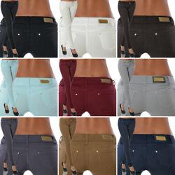 Damen Stretch Hose Jeans-Look Röhre Skinny Leggings Leggins Treggings Jeggings