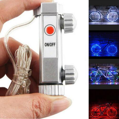 2M 20 LED Bicycle Bike Rim Light LED Cycling Wheel Spoke Light String Strip Lamp