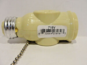 Image Is Loading Cooper Wiring 660w Pull Chain Socket Adapter 718v