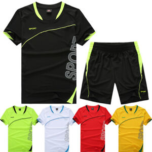 e9232120b NEW Season Plain Blank Running Soccer Jersey Kit Uniforms Football ...