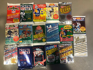 1989-1992-Vintage-Sealed-Football-Wax-Pack-Lot-Mixed-Box-RC-Aikman-Sanders