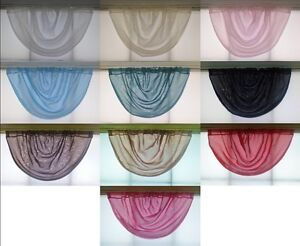 PLAIN-VOILE-NET-SWAGS-Made-in-UK-Exclusive-Style-Slot-Top
