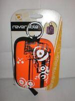 Sakar Reversible Digital Camera Case Water Resistant Orange & Purple Design
