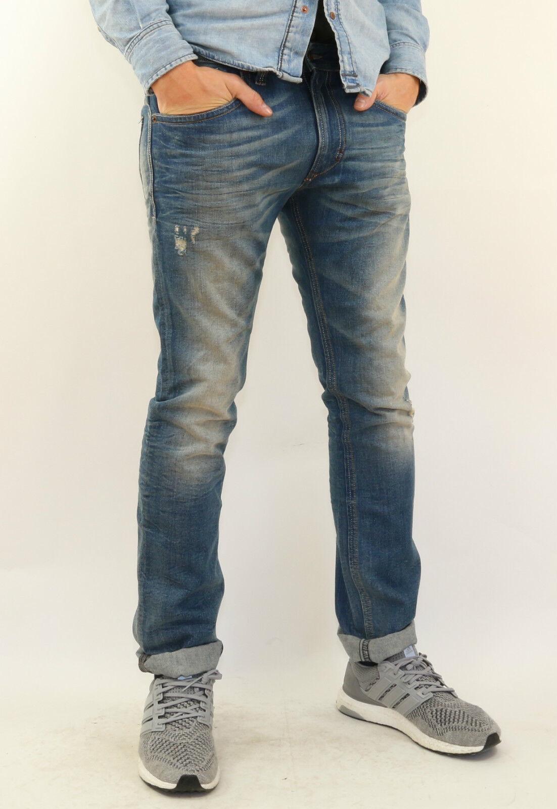 DIESEL Jeans THAVAR wash 0806p Slim-Skinny + Nuovo + Varie Dimensioni