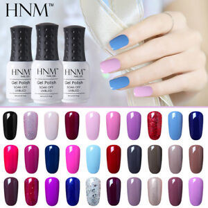 HNM-Soak-Off-UV-LED-Mehrfarbig-Gel-Nail-Polish-Top-Base-Coat-Manikuere-Lack-8ml