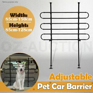 3 Bar Design Adjustable Pet Vehicle Tubular Dog Travel Safe Grill Guard Barrier