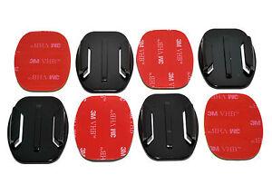 4xFlat Base 3M Adhesive Pad  Mount Kit for GoPro  5 6 7 8