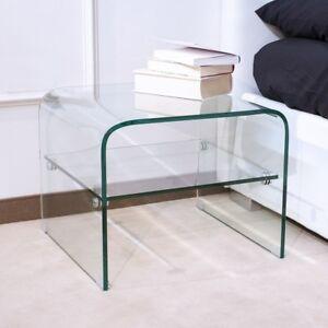 Dettagli su Tavolino vetro curvo Eta - soggiorno, salotto, vetro curvato,  12mm, ripiano