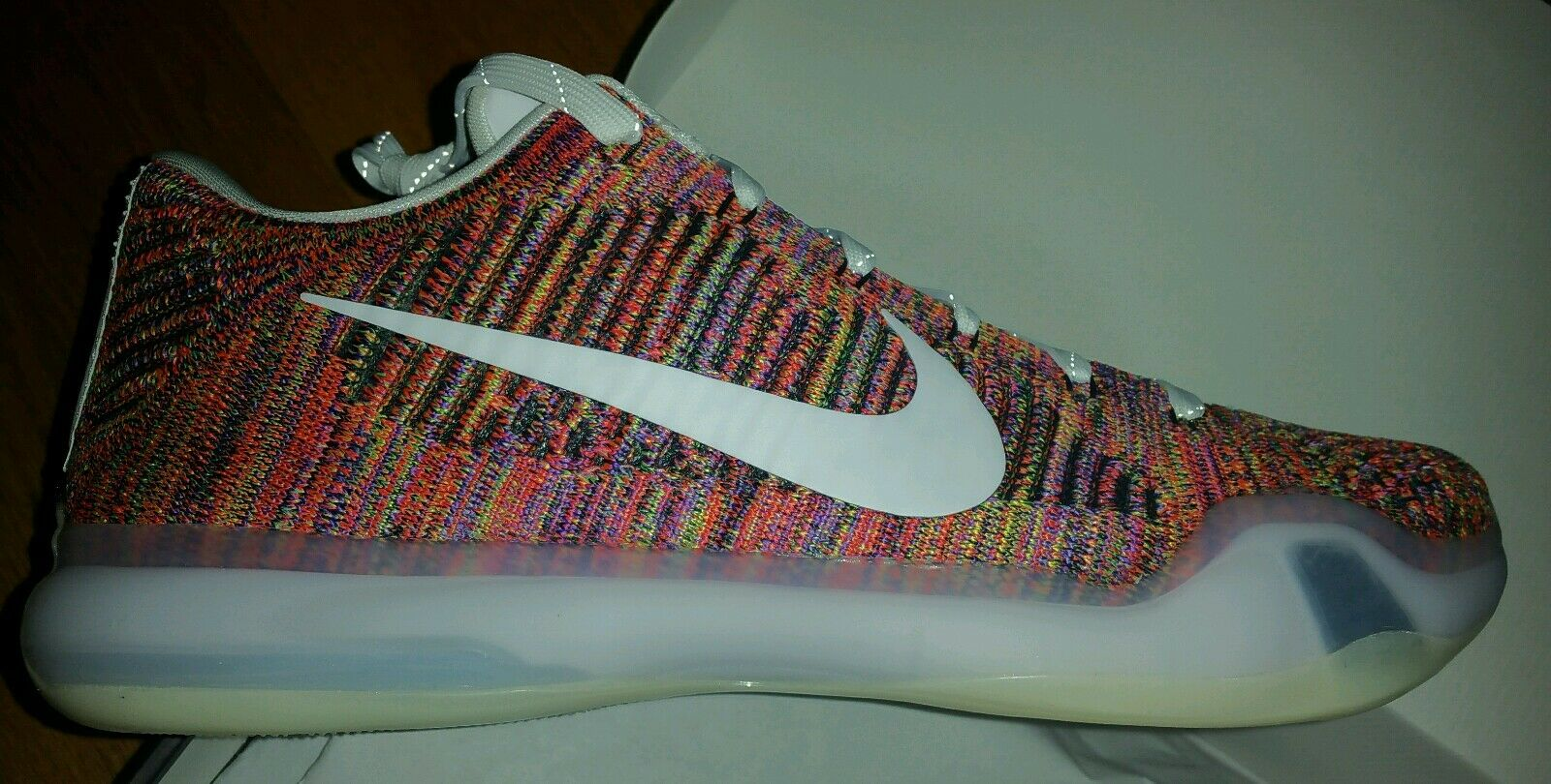 Nike Zoom Kobe X Elite iD size 14 Multicolor Flyknit MC Mambacolor NikeID white