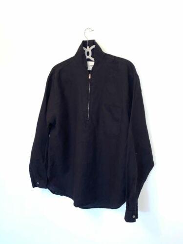Our Legacy linen black oversize shirt