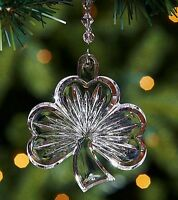 Waterford Crystal Shamrock Ornament +enhancer 156426 New/box Germany Good Luck
